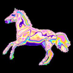 horse glitch лошадь глитч freetoedit
