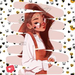 freetoedit girl blackheart