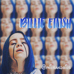 billieeilish blue milsandbils edit royalblue freetoedit