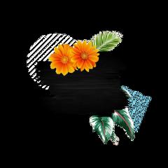 freetoedit palms palmleaves flowers brush