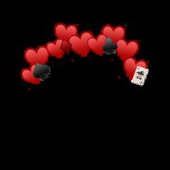 darkred red emoji hearts cards