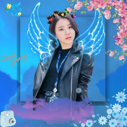 freetoedit blueaesthetic twicechaeyoung kpop kpopedit