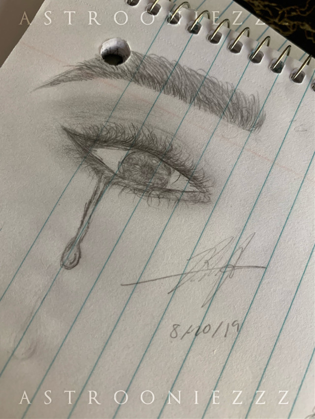 •pls read  update :)   (yes that is my real signature so please do not claim this as yours.)  first off i know this isn't good at all but i was practicing tears and i ended up drawing a full eye(i haven't drawn in over a year so please don't judge. it's really bad)   secondlyyy i'm working on my second last request. it's an experiment and i'm excited to share it with you guys once it's finished :) (can you guys what kind of edit it's going to be?)   and a lil life update bc i can sjsks   i started school on monday so my days have been hectic and very tiring so i haven't been able to keep my eyes open long enough to edit 😬   i was going to say more but i forgot lol   last thing sjsk please join my contest :) it ends august 24th!    i hope you guys had/ have a good day 😊💘💖💖   [t a g s💫]  #eye #drawing #tears #practice #drawingpractice #tearpractice #kpop #astrooniezzz #astrooniezzzedits