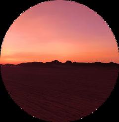 circle sky sunset freetoedit