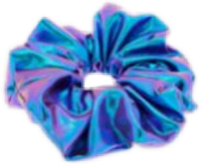 scrunchie holographic blue purple vsco freetoedit