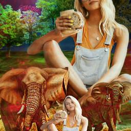 freetoedit chica girl paisaje selva ircsnacktime