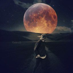 myedit editedbyme moon moonred night