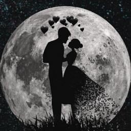 freetoedit hearts moon galaxy edit day ecohmyheart