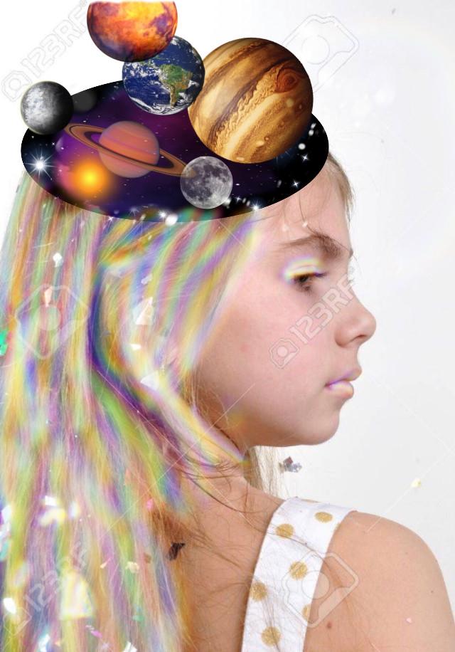 #galaxygirl #rainbowmakeup #freetoedit