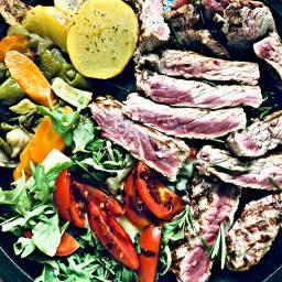 dinner meat vegetables colors food