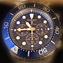 freetoedit watch blue seiko timepiece
