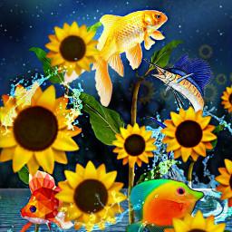 freetoedit peces girasol colores fantasia srcsunflowerselfie