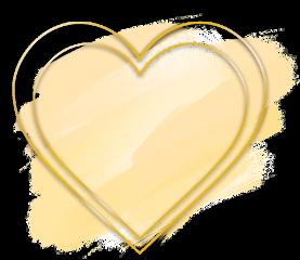 love heart gold brush glitter freetoedit