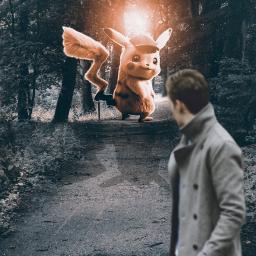 freetoedit man pokemon forest nature