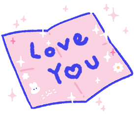 note pink bunny iloveyou cute freetoedit