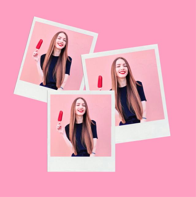 #freetoedit #girl #challenge #imageremixchallenge #popsicle #icypole #pink #polaroid #pictureframes #pastel #lightpink