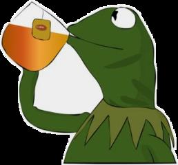 kermit tea tumblr vsco meme freetoedit