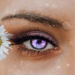 freetoedit eye daisy purplegalaxy
