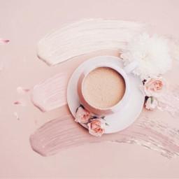 brushstroke paint coffee pink freetoedit