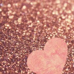 glitter rosegold loveheart background
