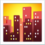 emojis iphone cityscape at dusk freetoedit
