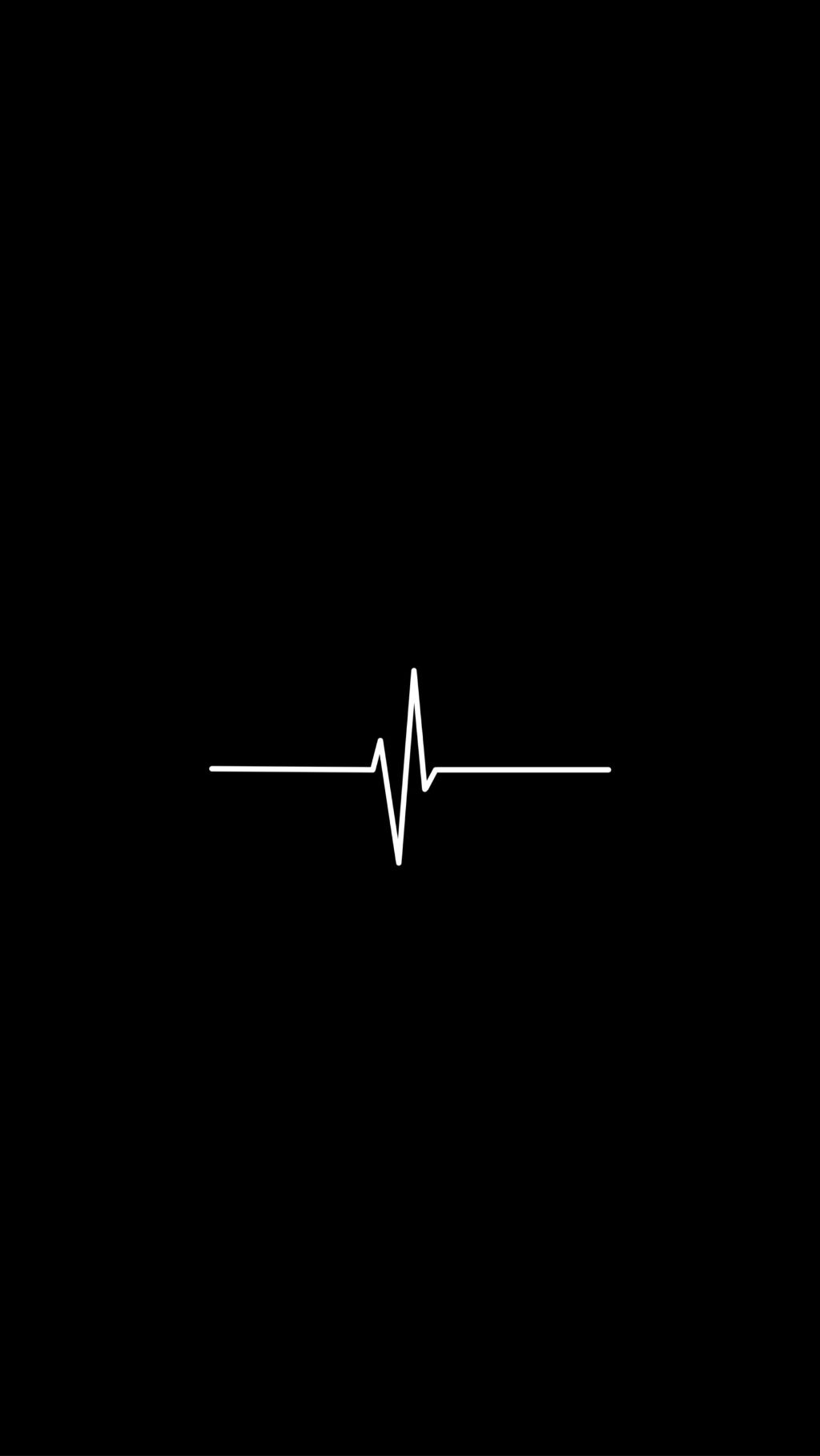 Black Wallpaper With Heartbeat