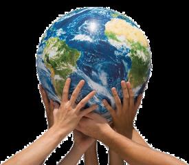 sticker freestickers earth world hands freetoedit