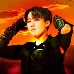 bts sunset kpop kpopidol jhope junghoseok hoseok freetoedit