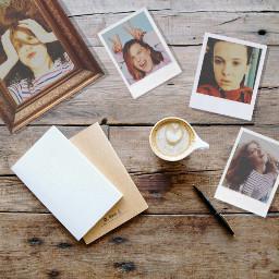desk old polaroid film noise freetoedit