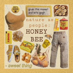 freetoedit honey honeybee bee yellow