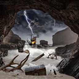 myedit shipwreck cove oceanwaves storm freetoedit