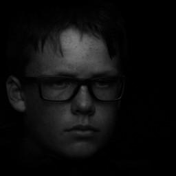 portrait blackandwhite photography glasses dark freetoedit