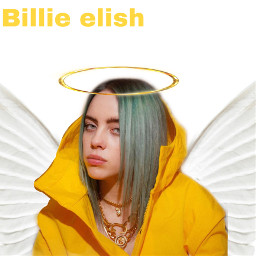freetoedit yellow edit angel billieeilish