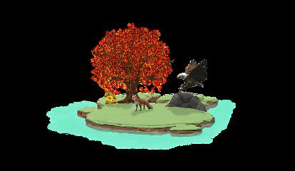 ftestickers island fok tree eagle freetoedit