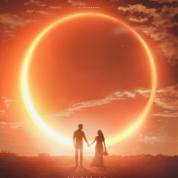 surreal surrealism surrealist silhouette grassfield eclipse