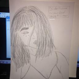 girldrawing gir drawing pencilart girlinred