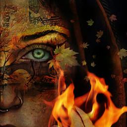 freetoedit fall eye leaves flame ircseptembershere