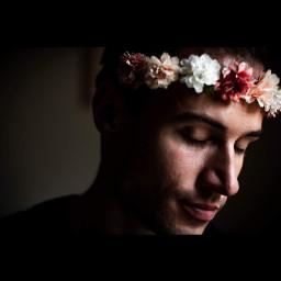 freetoedit flowers portrait art headband