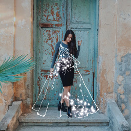 freetoedit dress whitedress outlinedress butterfly