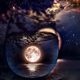 freetoedit moon stars night glass srcfullmoon