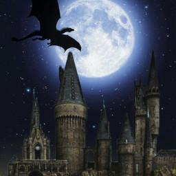 freetoedit moon castle dragon fantasy srcfullmoon