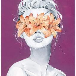 freetoedit wallpaper watercolor woman flowers