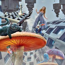 freetoedit aliceinwonderland alice surreal fantasy ircarchitectureremix