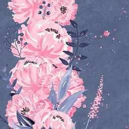 freetoedit blue pink flowers