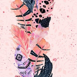 freetoedit pink feathers watercolor wallpaper