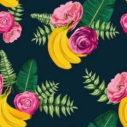 freetoedit bananas roses tropical