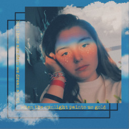 freetoedit girl rainbow cloud stars