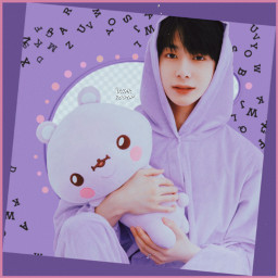 lettersbrush hyungwon monstax purple cute freetoedit