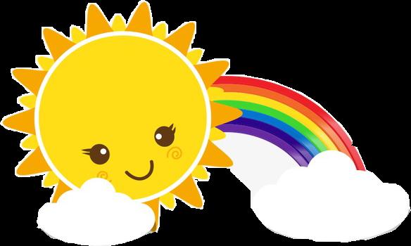 #sunshine  #sun #rainbow  #sky #freetoedit