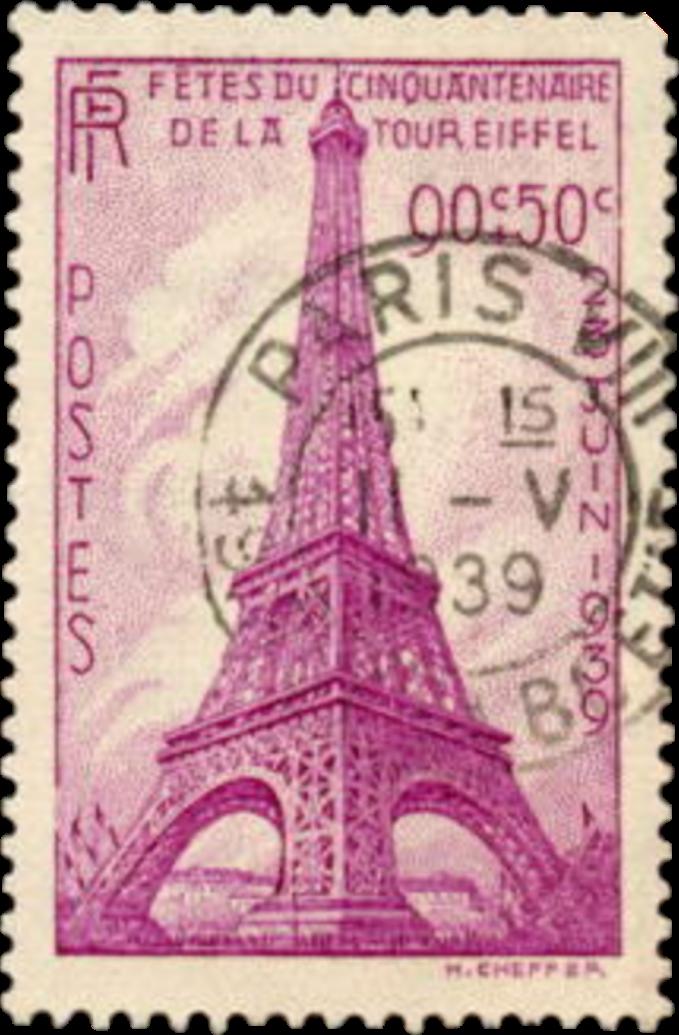 #scpostagestamps #postagestamps #1939 #france #paris #eiffeltower